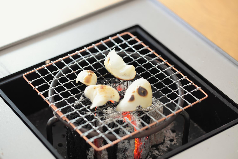 百合根の炭火焼